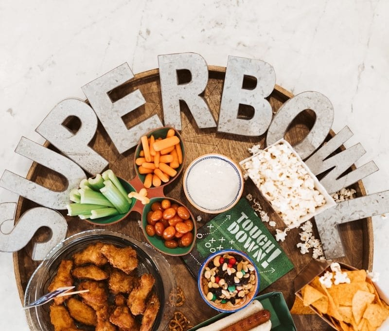 super bowl party tray