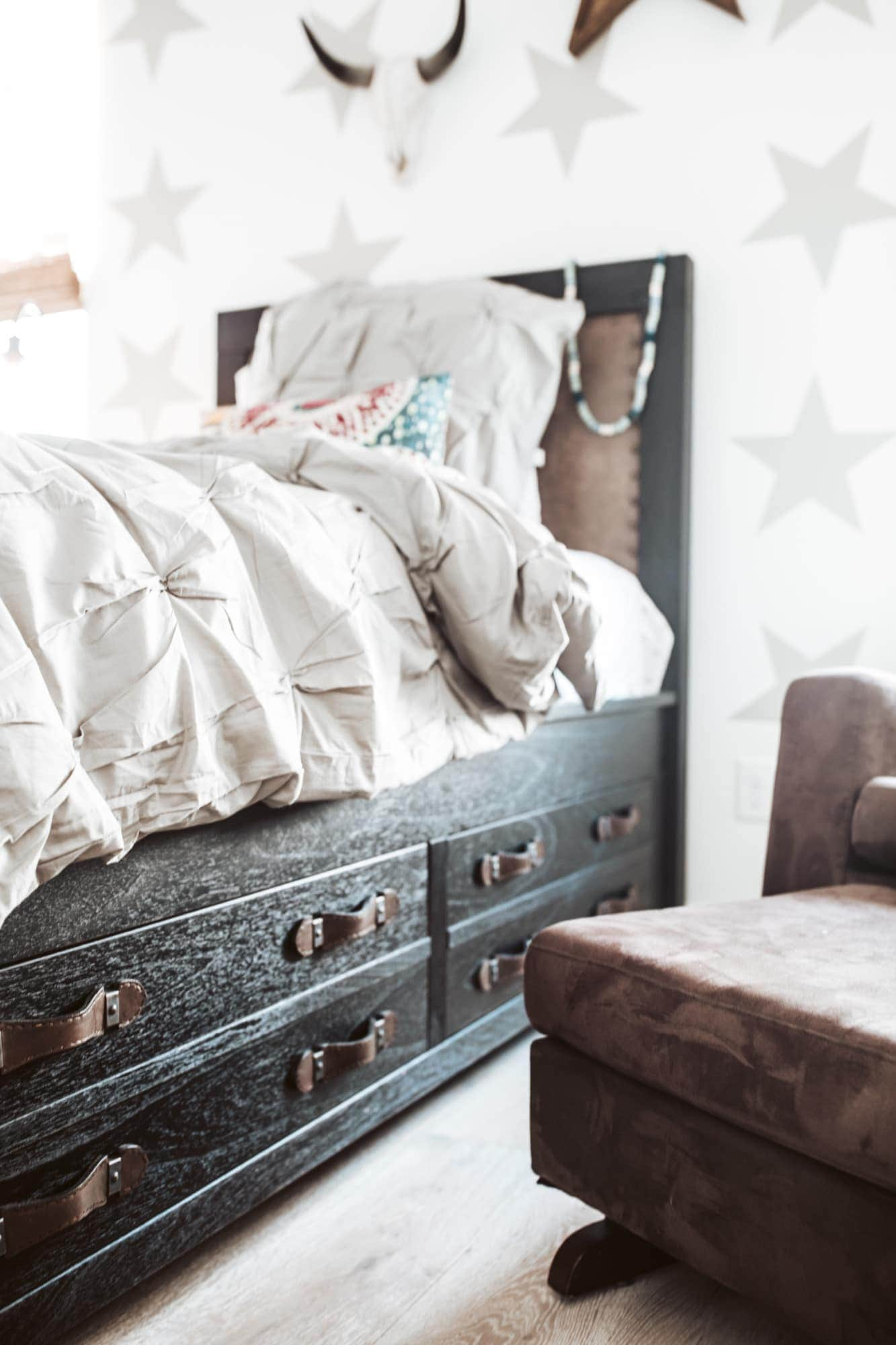 Arhaus Twin Bed With Storage