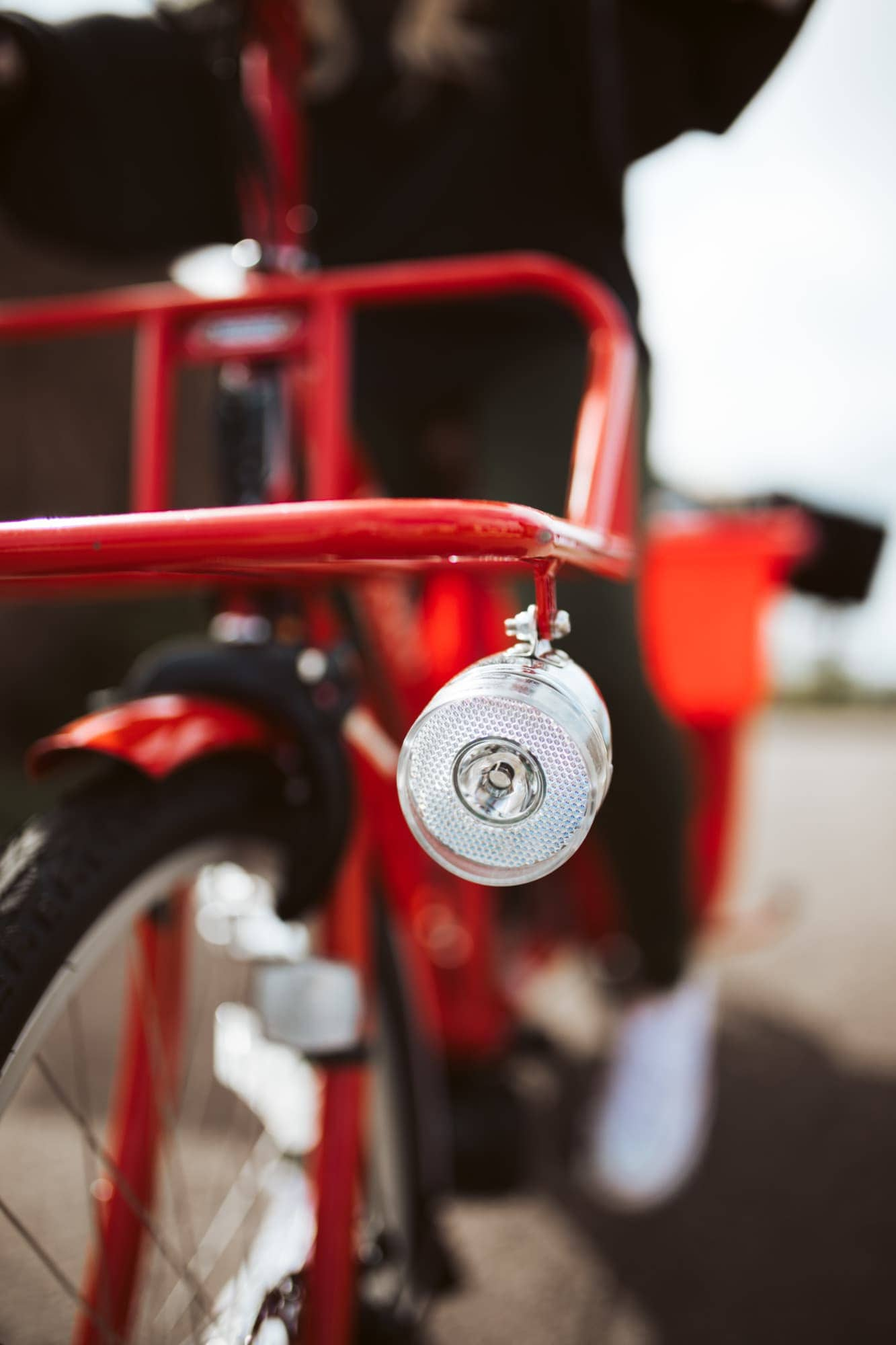 red bike close up