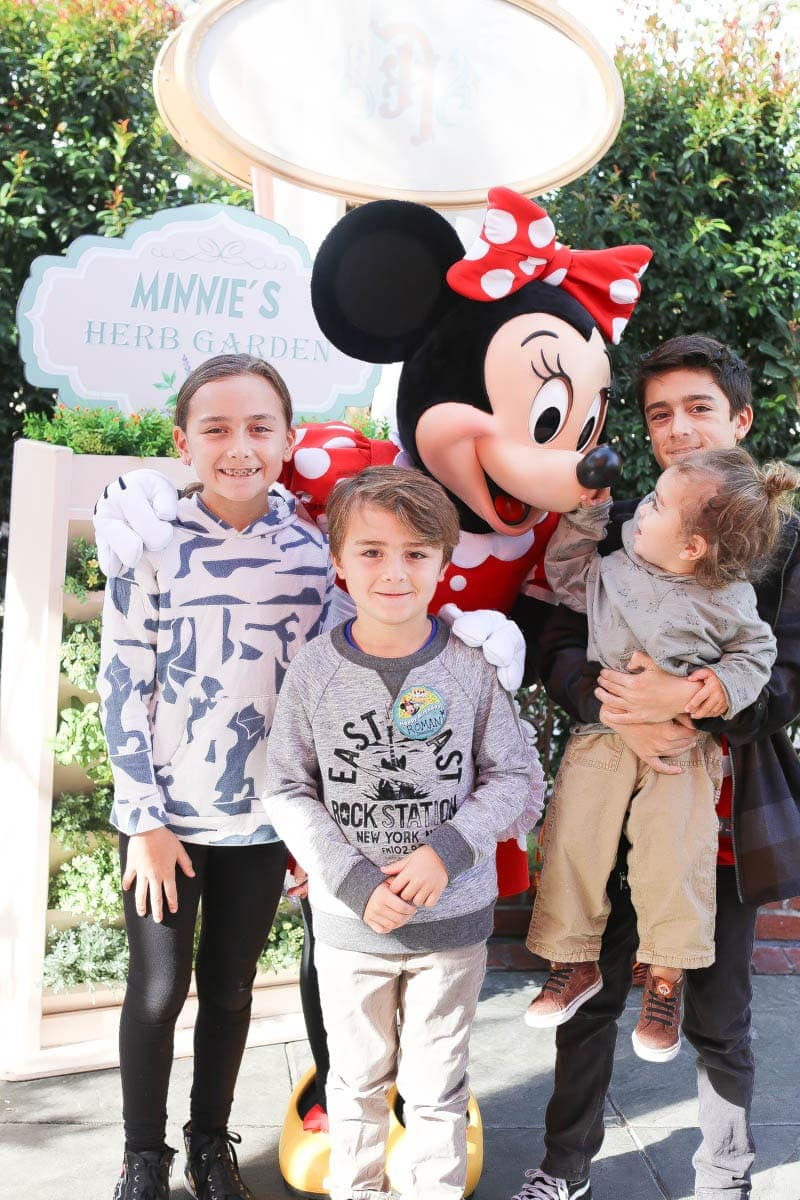 children and minnie mouse