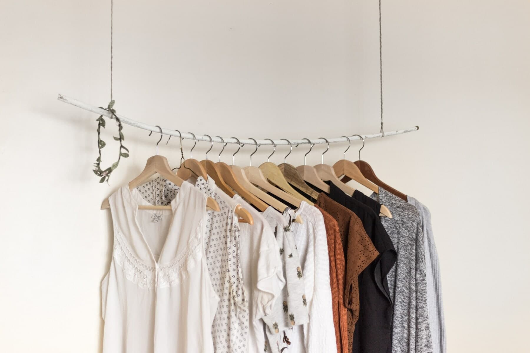 hanging clothing