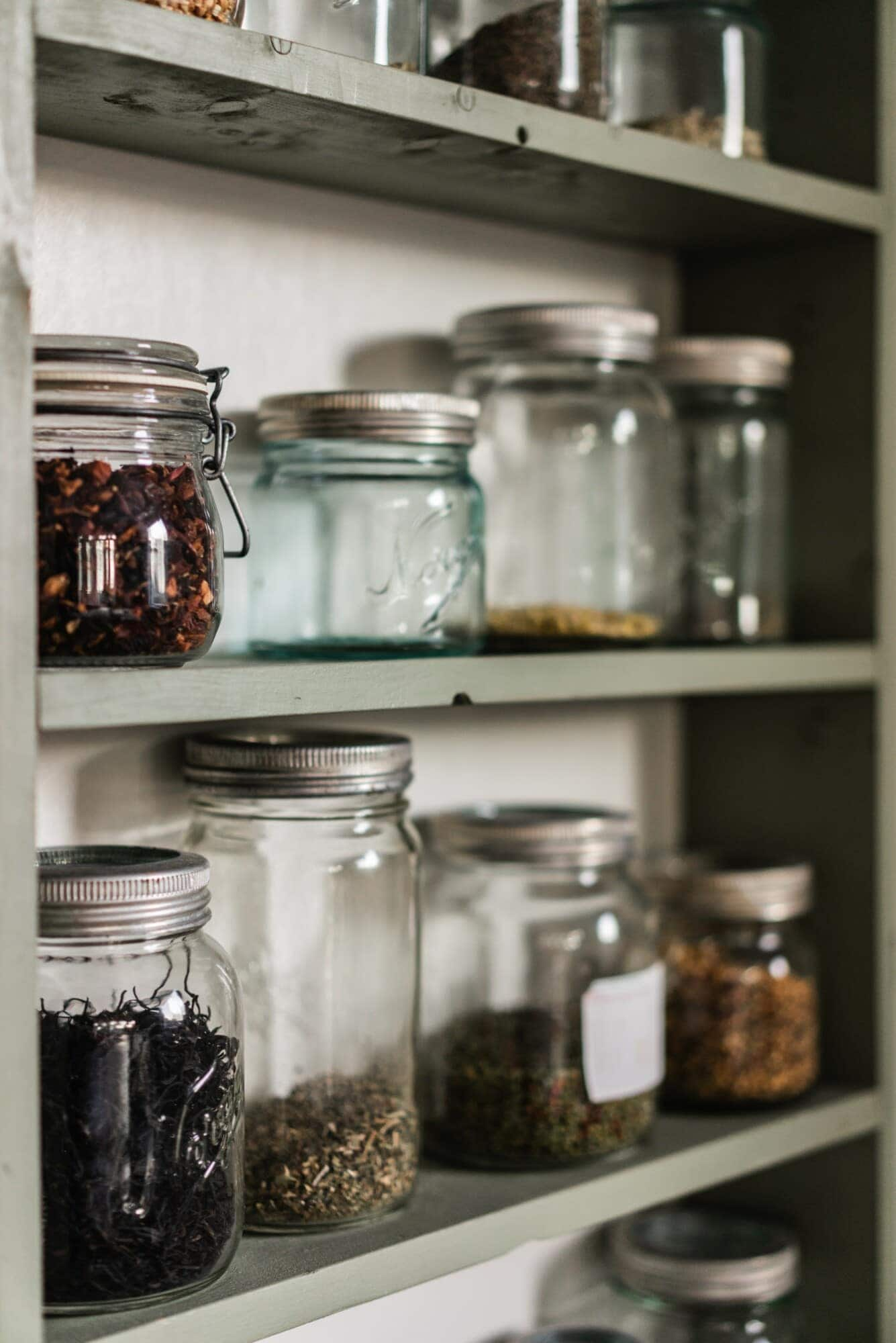 glass jar spice rack