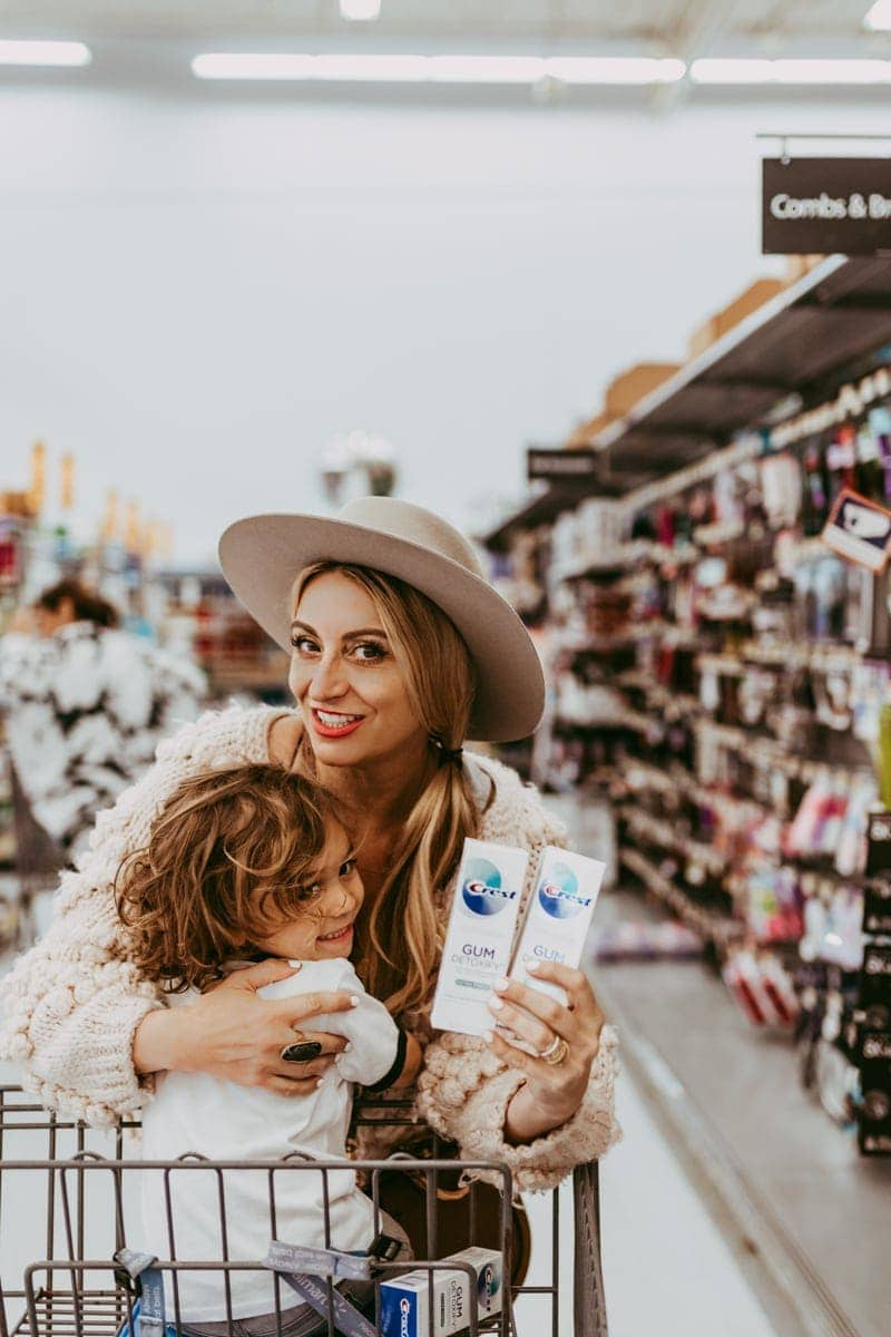 mom and child shopping