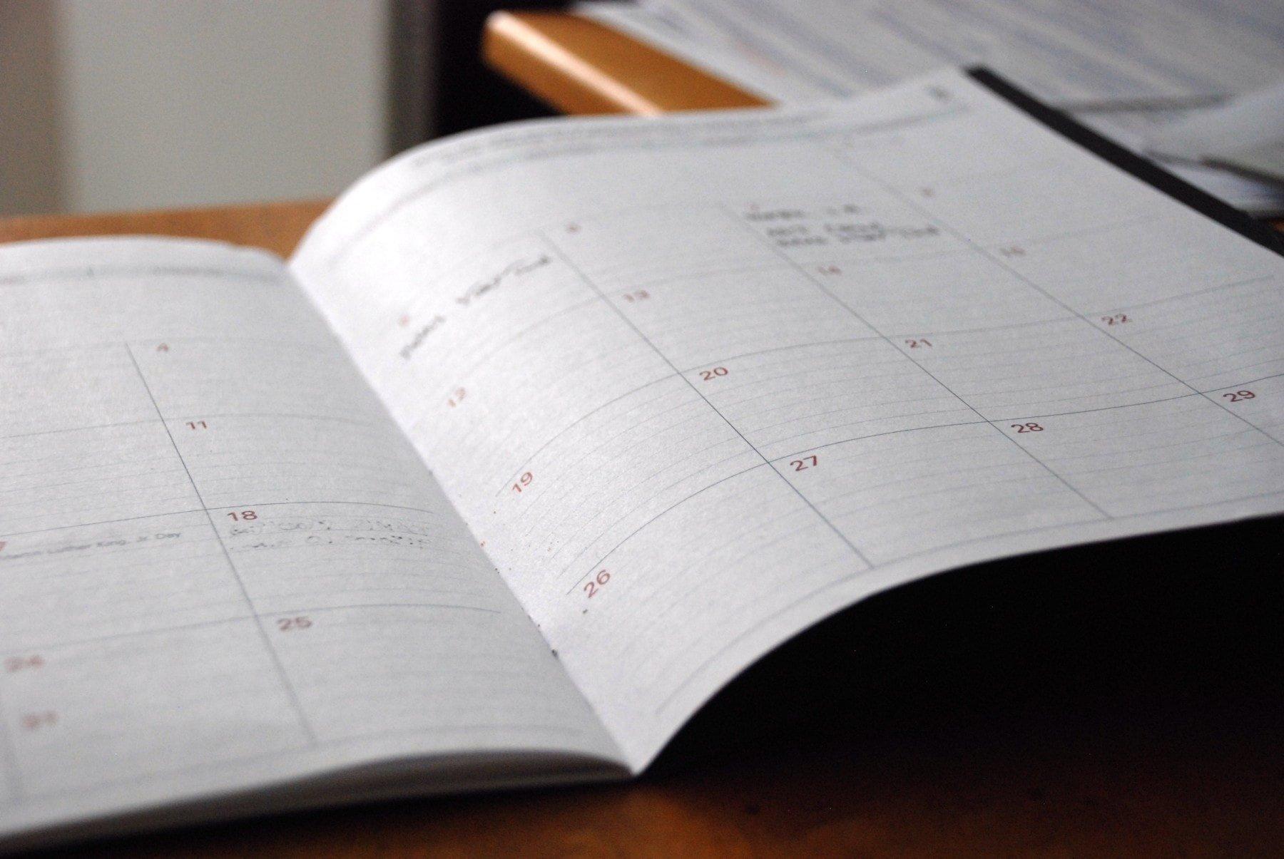 agenda book