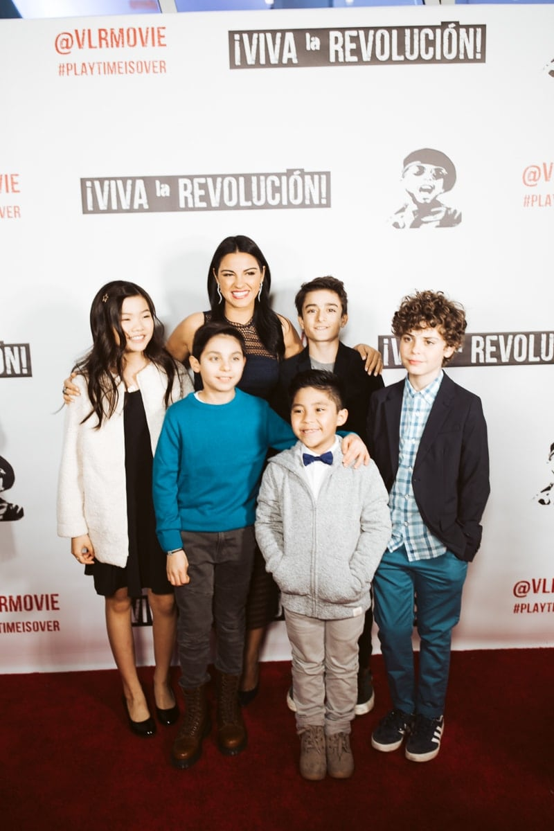 kids at movie premiere