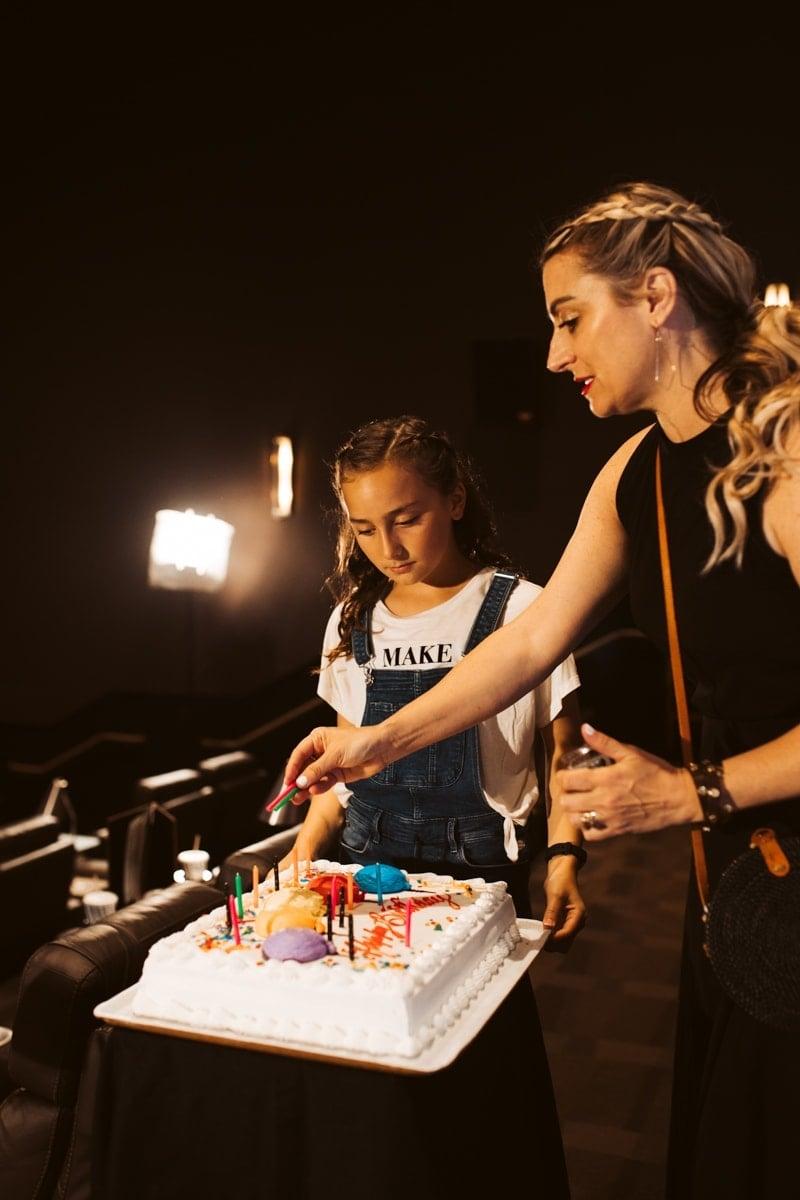 mom and daughter birthday cake