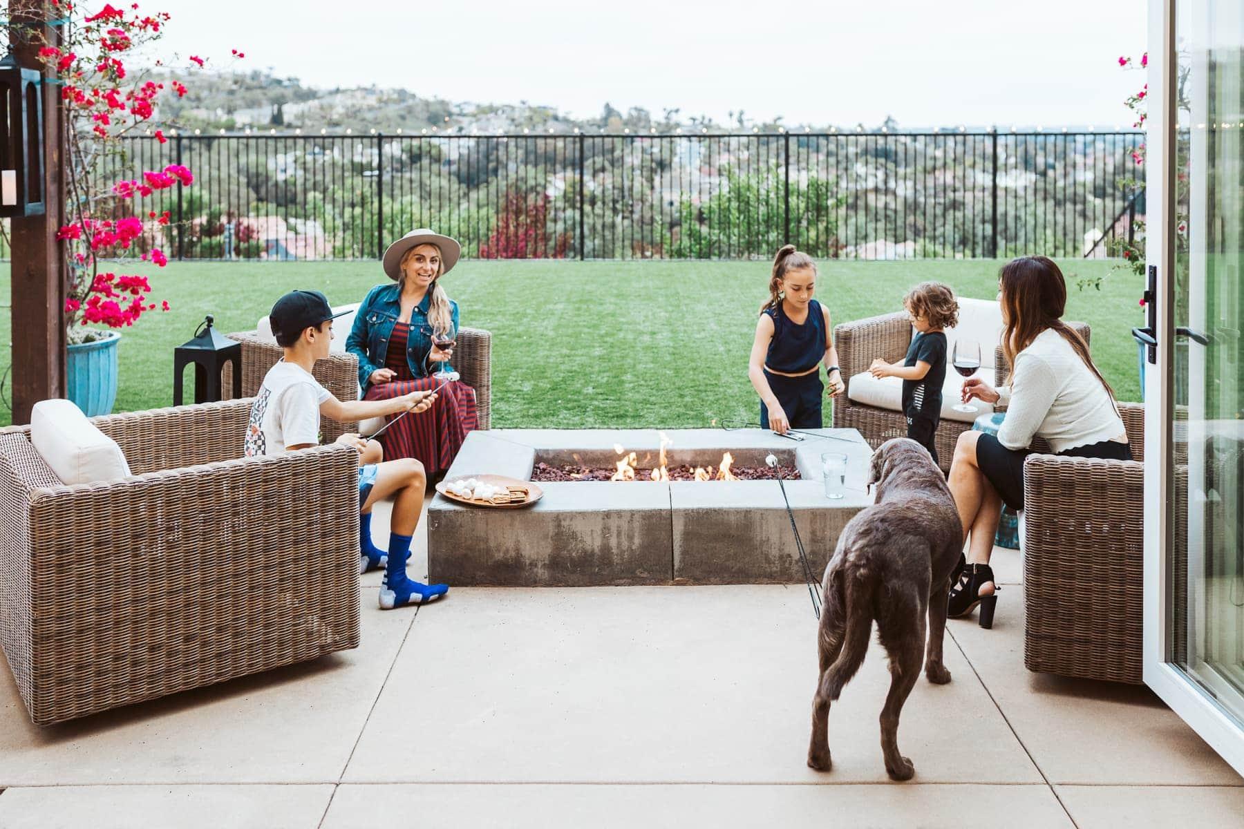 outdoor patio family