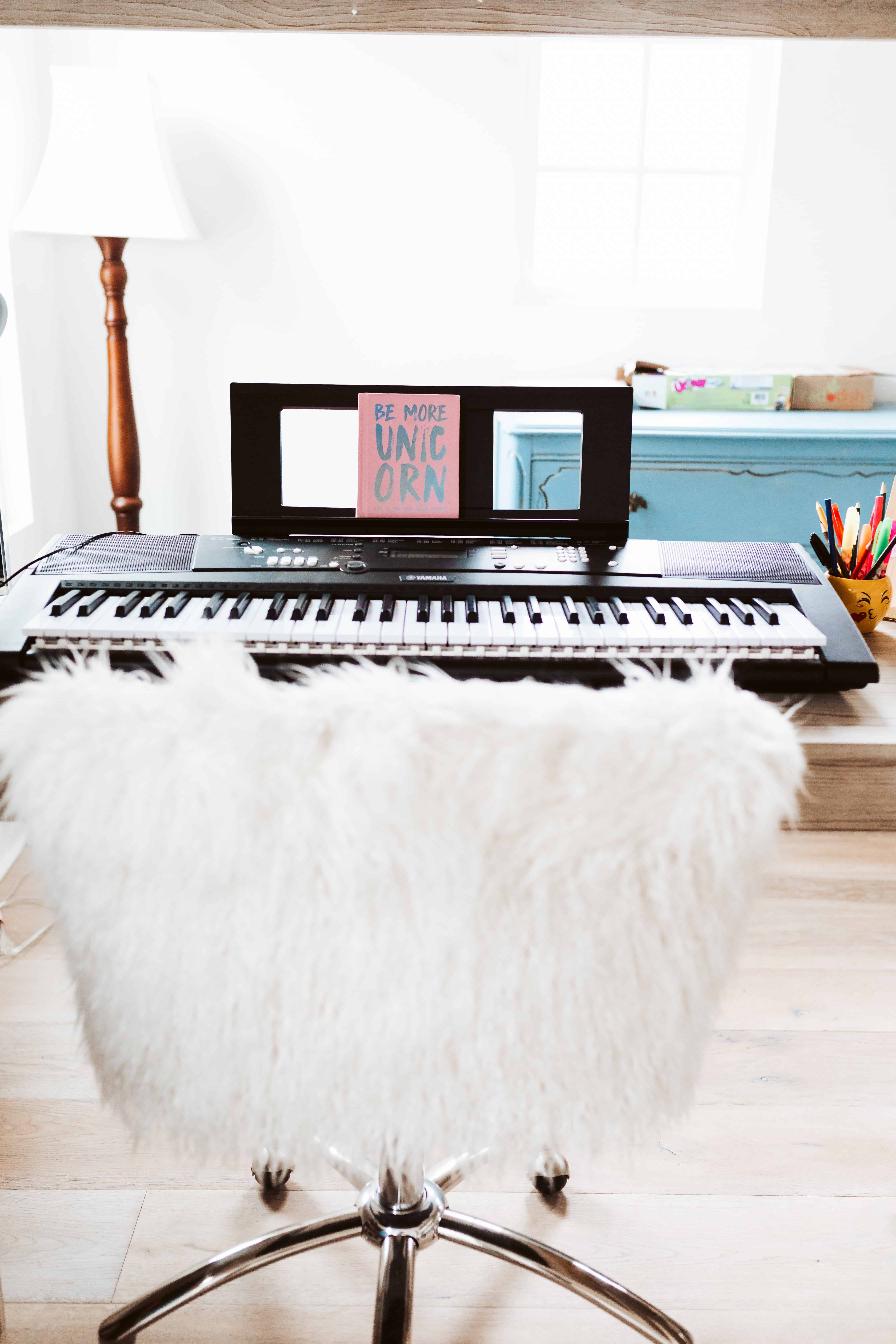 keyboard and chair