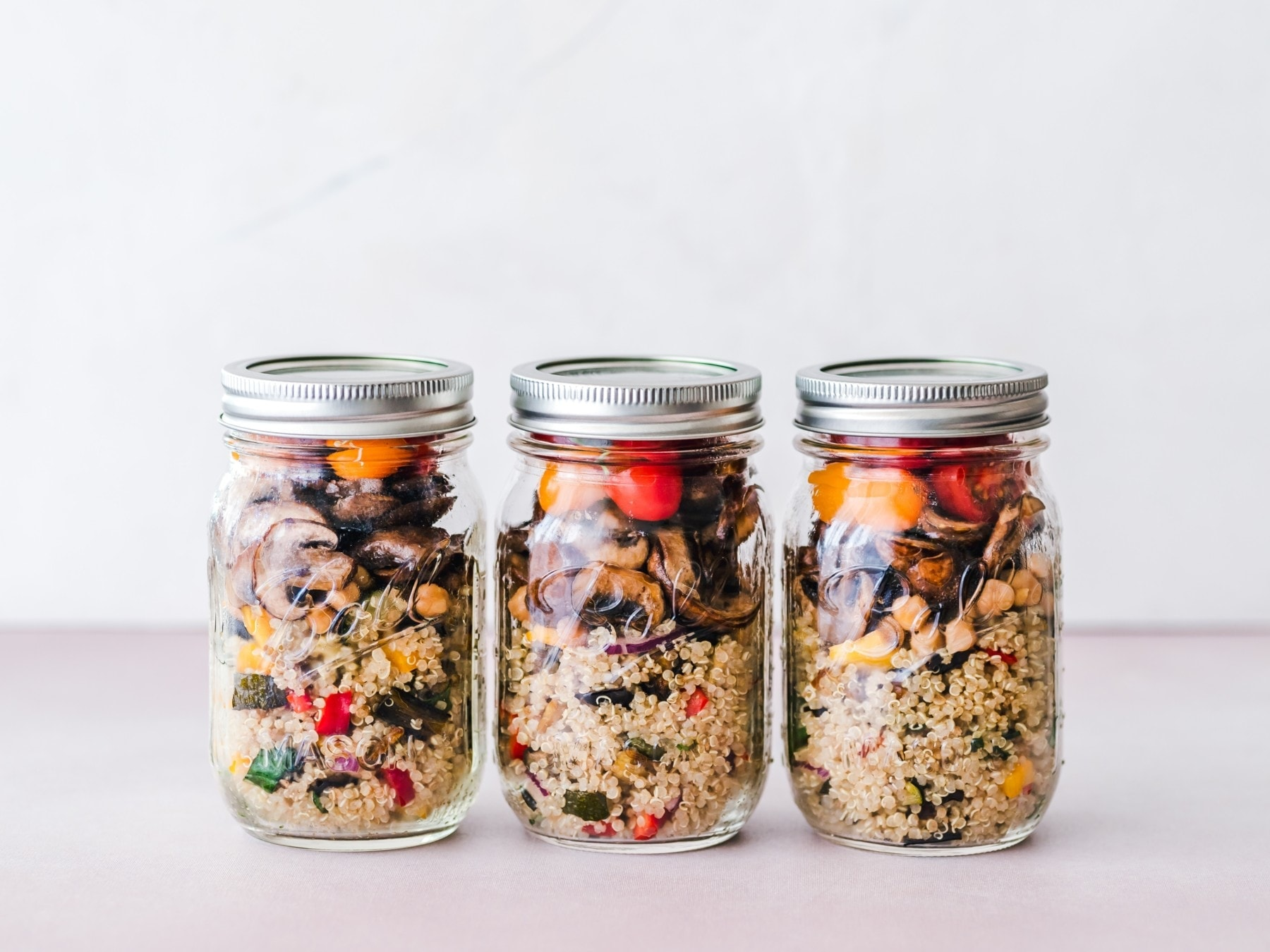 prepared food in jars