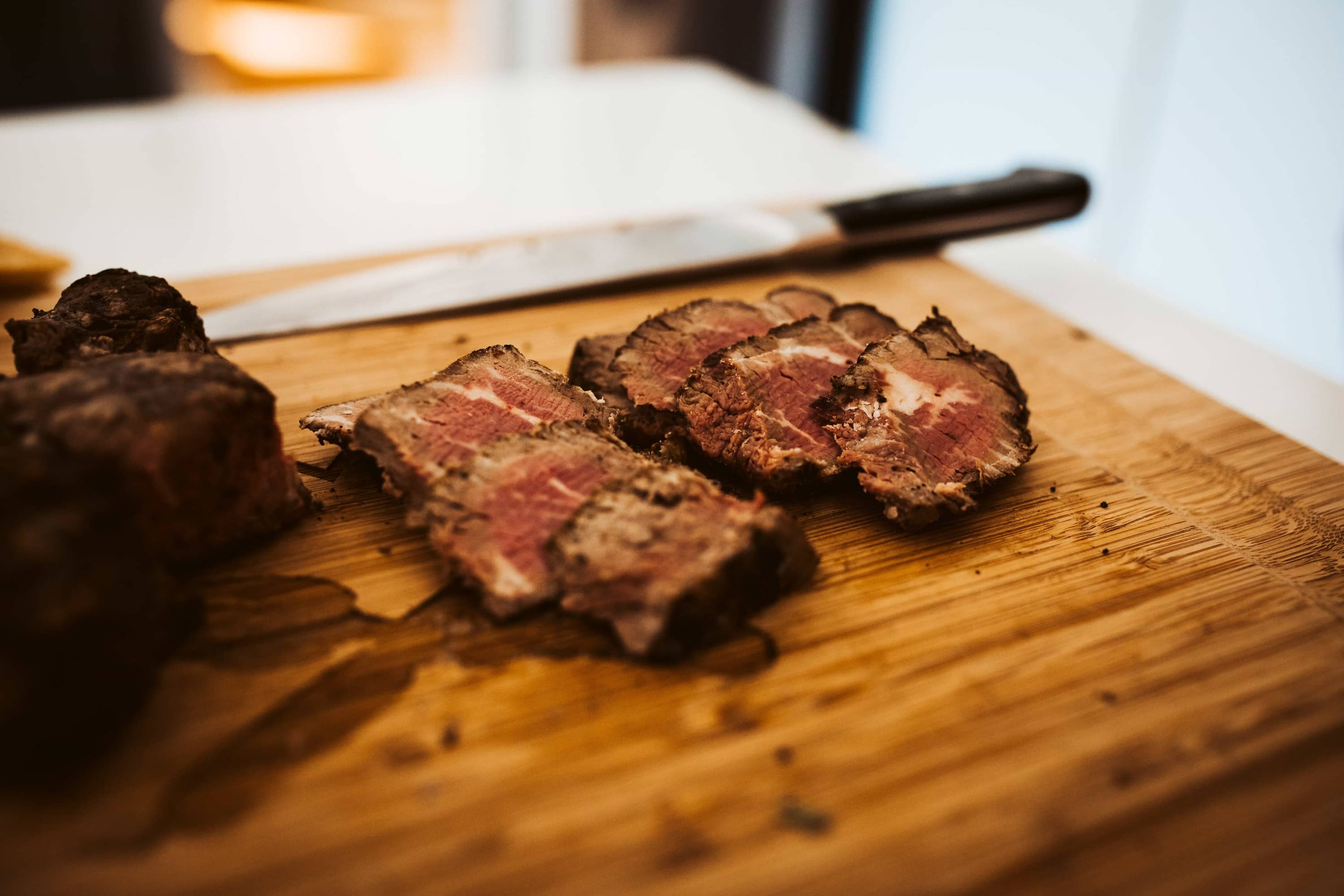 steak on cutting board