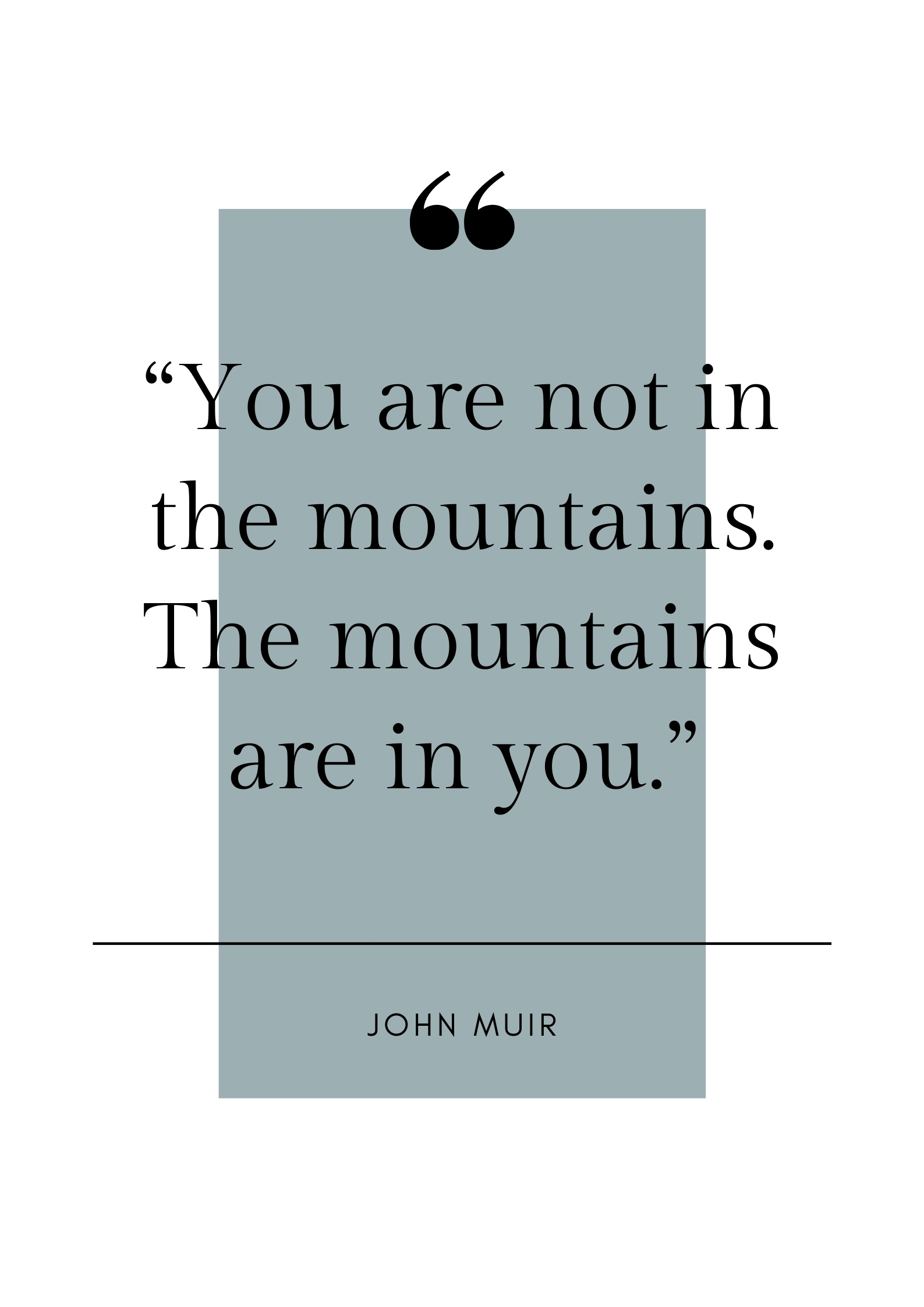 nature quote john muir