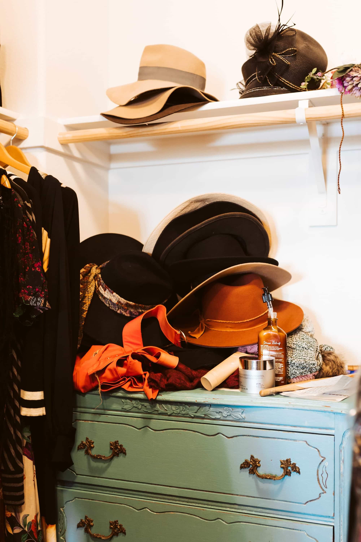 hats wardrobe