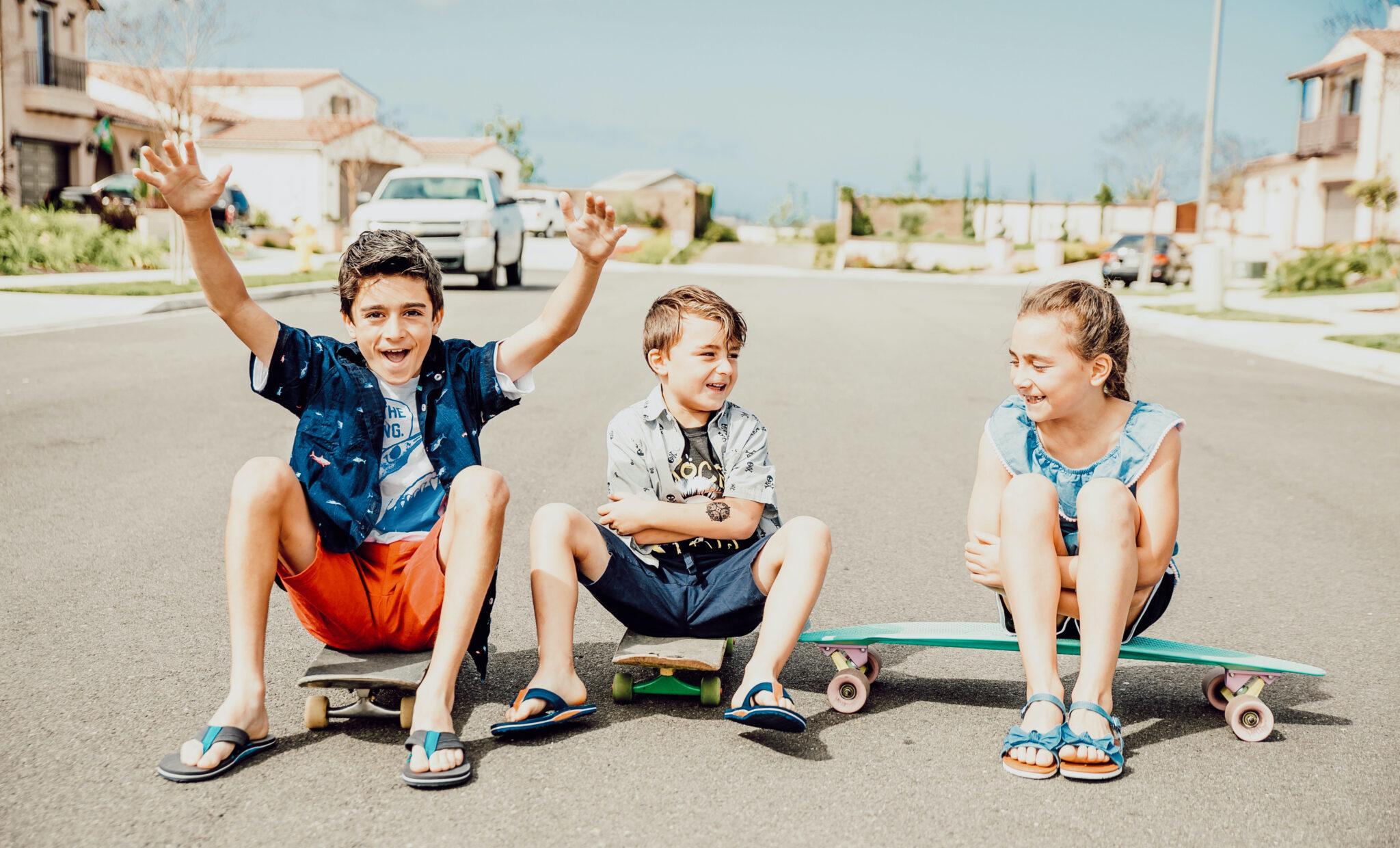 kids on skateboards
