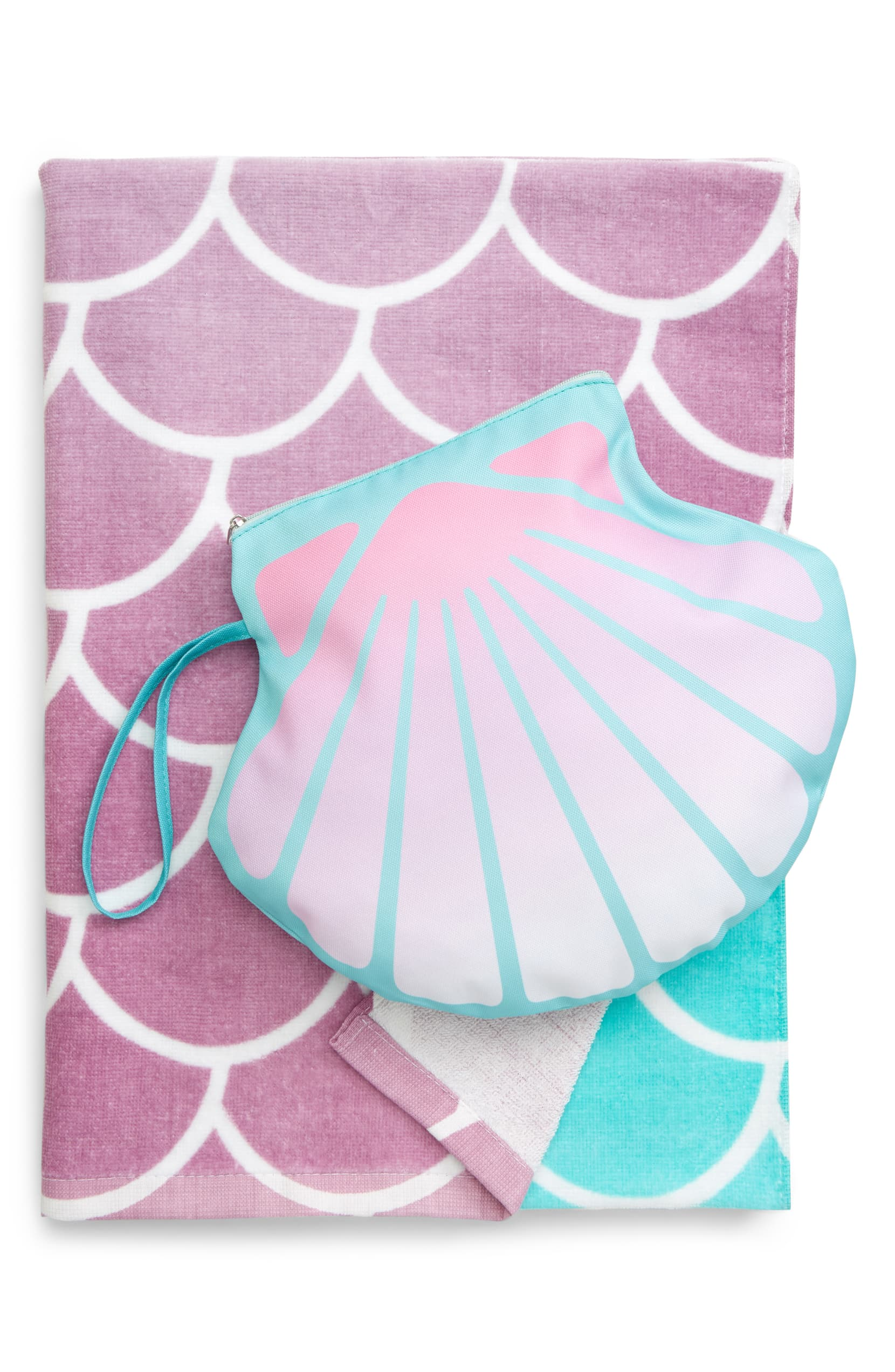 beach towel seashell