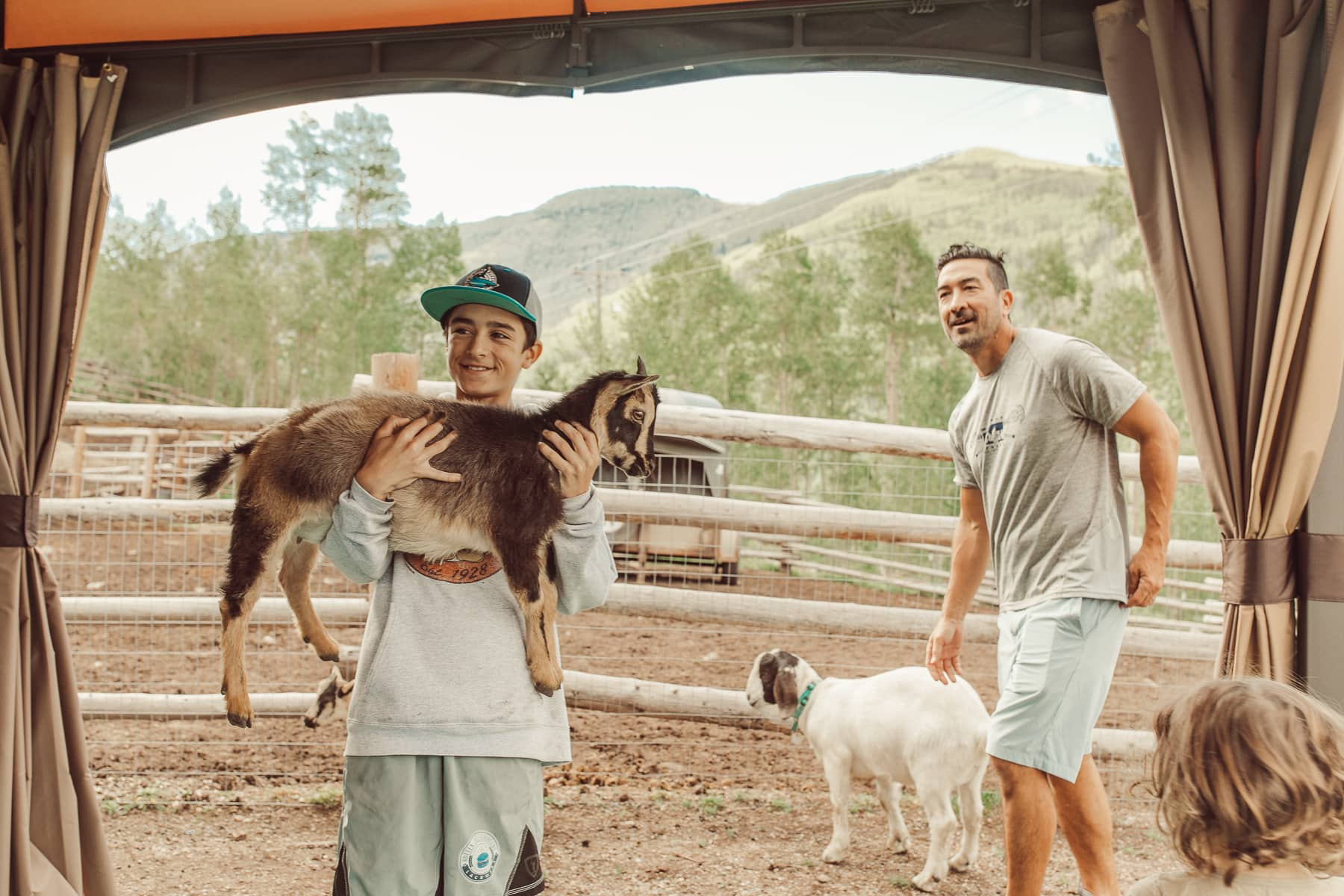 goats and family