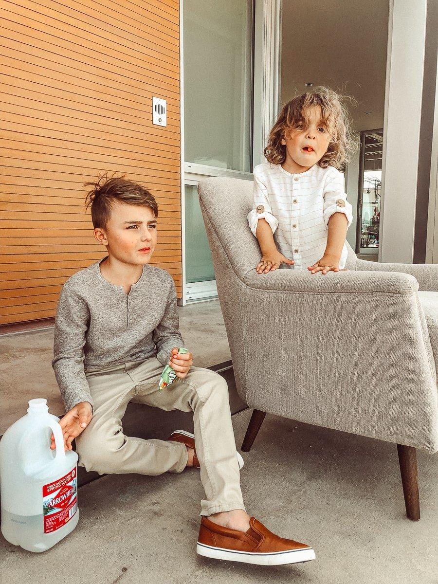 sitting kids