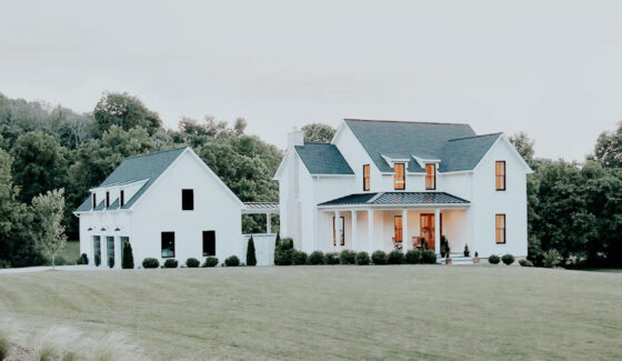 farmhouse on hill