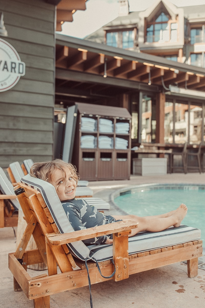 poolside toddler