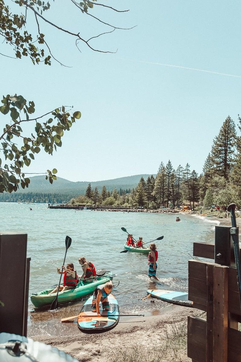 kids paddle boarding