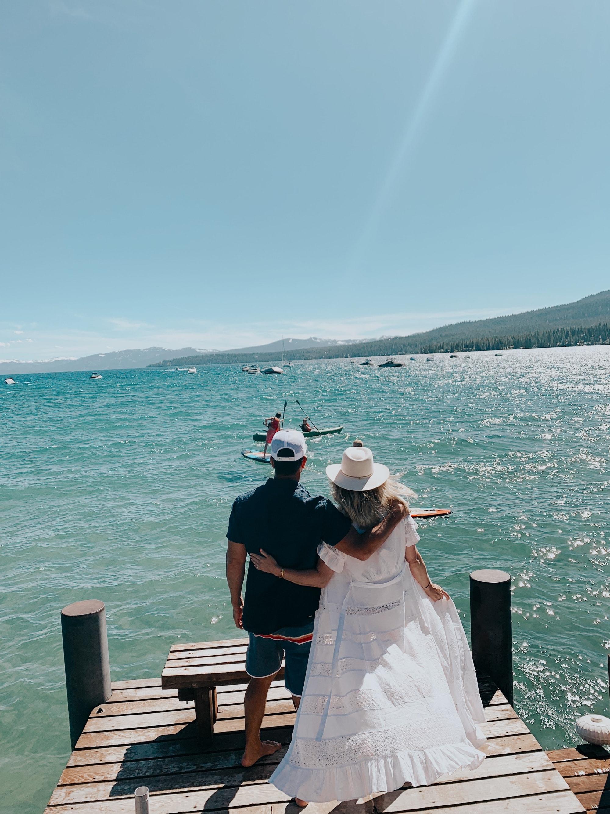 couple on lake