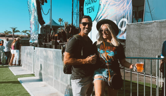 couple at music festival