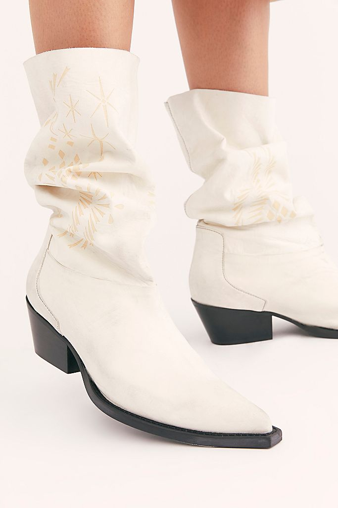white slouch boots