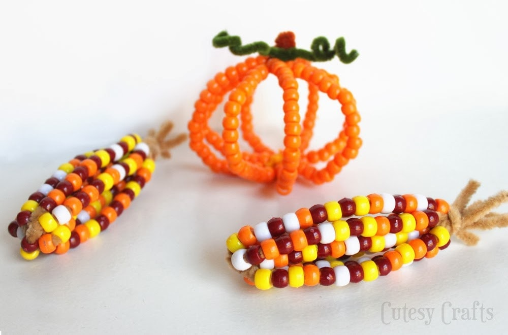 kids thanksgiving bead crafts