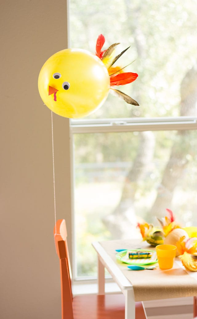 kids thanksgiving balloon crafts