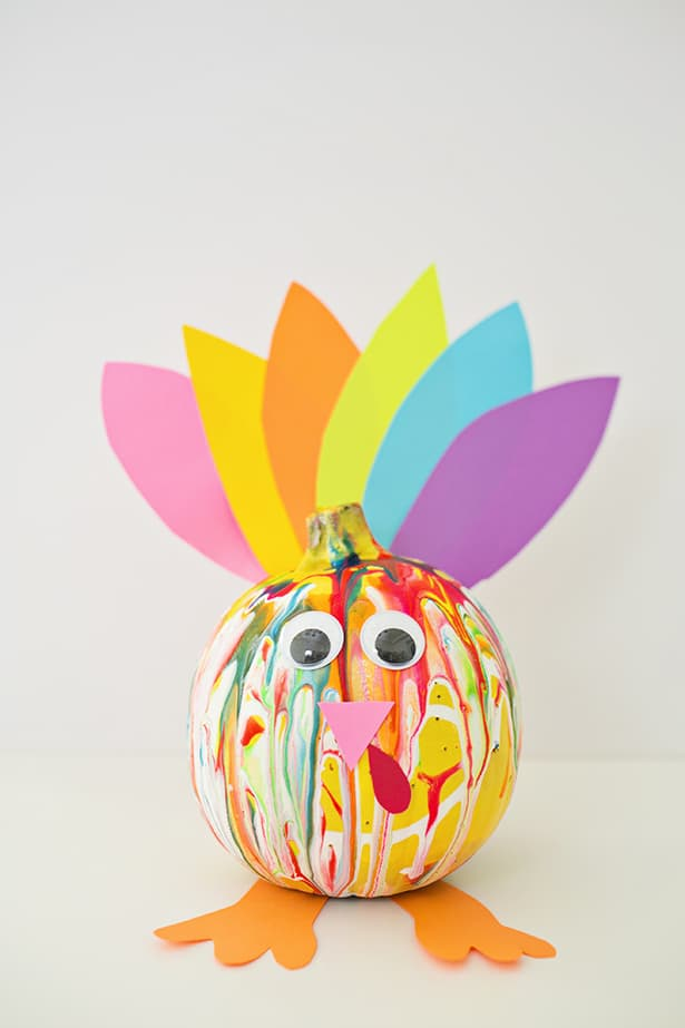 kids thanksgiving pumpkin turkey craft