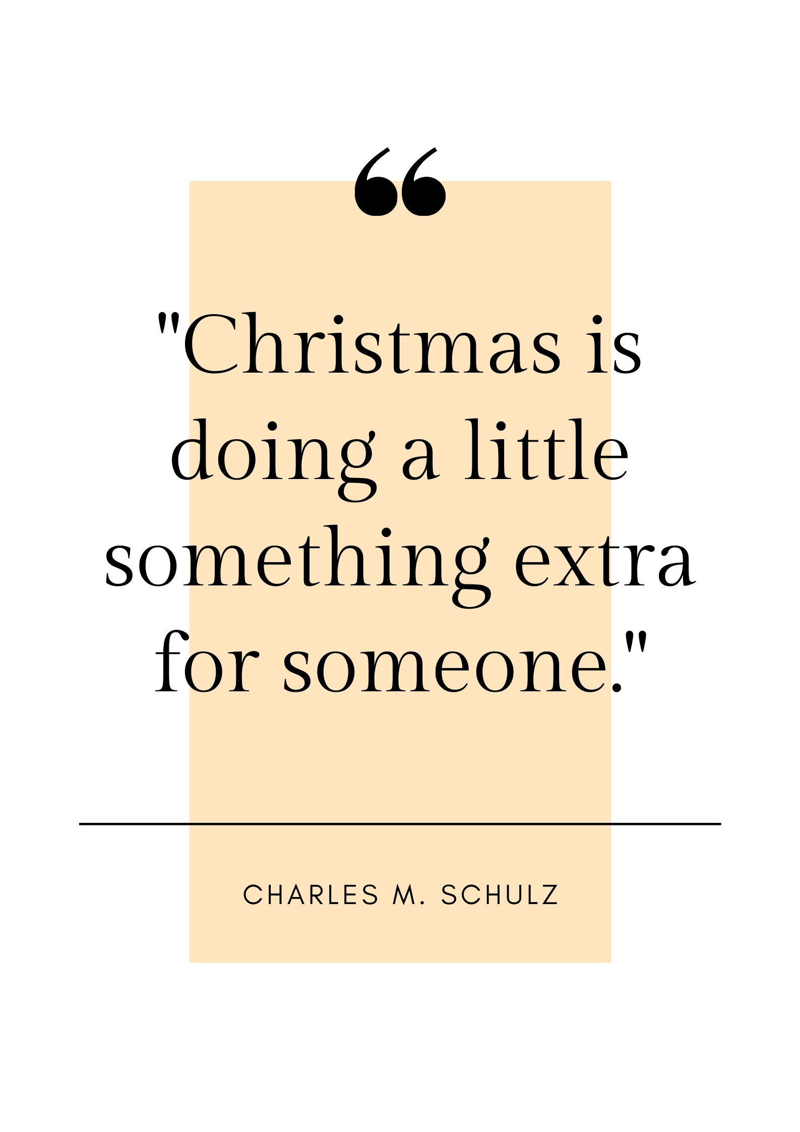 charles m schulz christmas quote