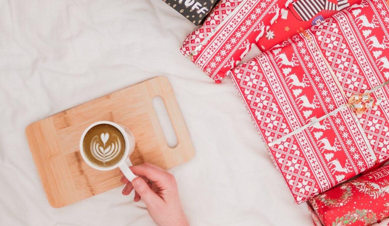 mug with christmas presents
