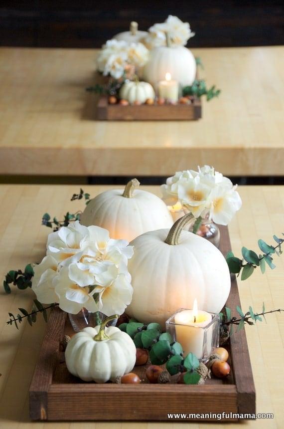 white pumpkin decor