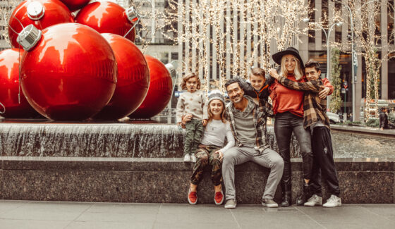 Family in NYC at Christmas