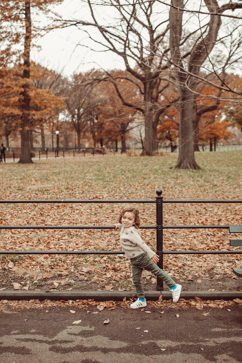 toddler in central park