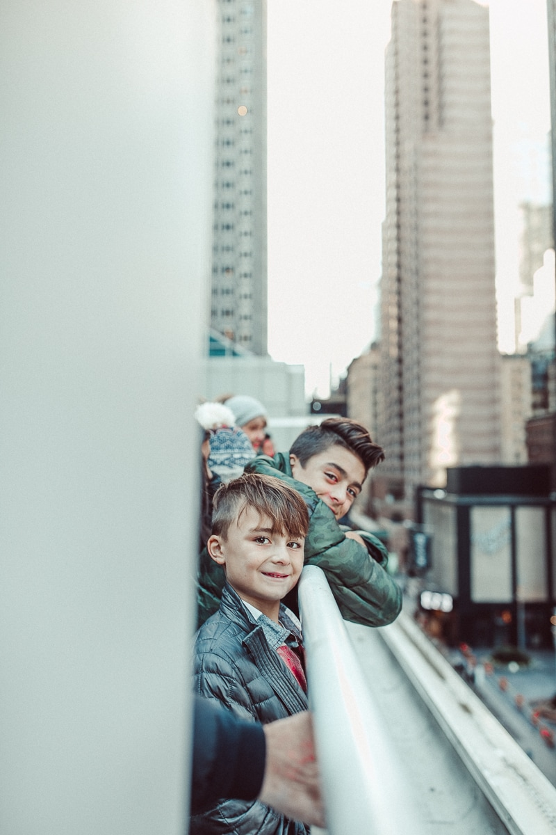 kids on new york city rooftop
