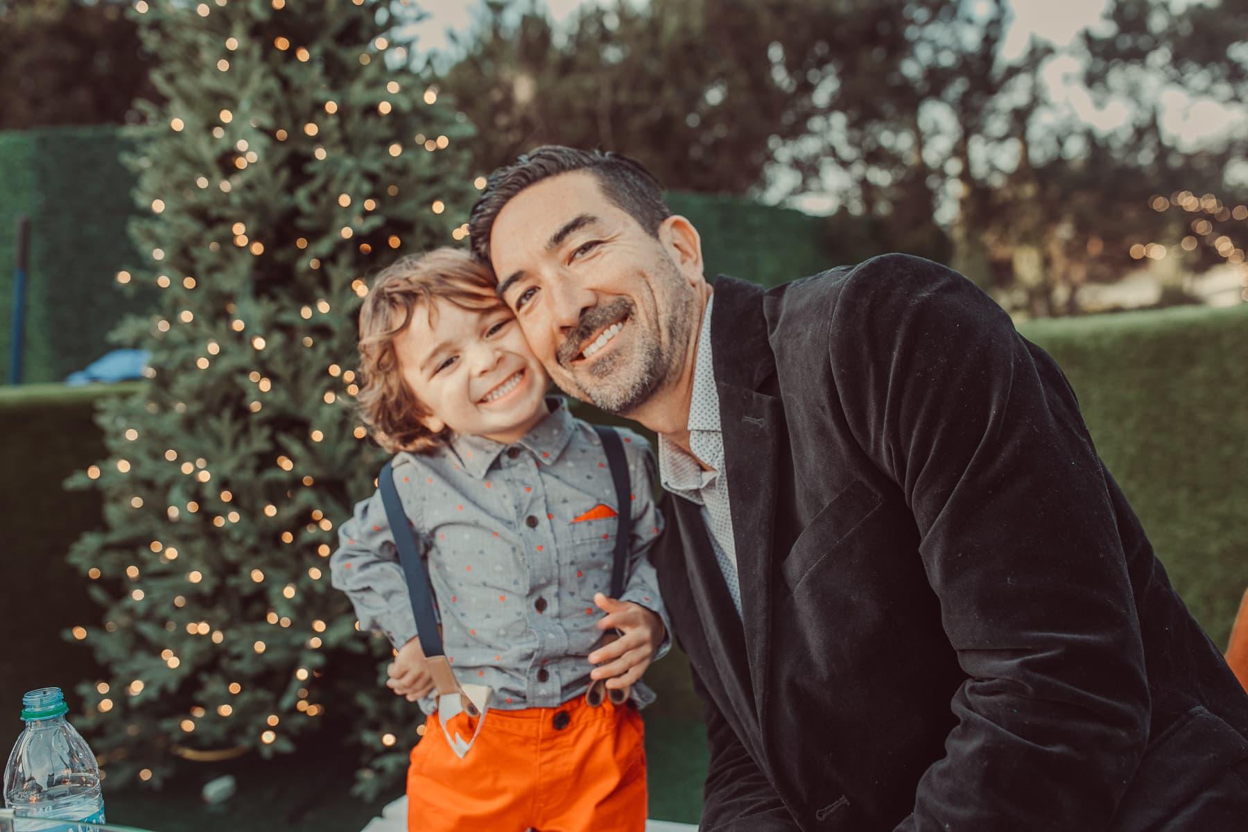 christmas father and son