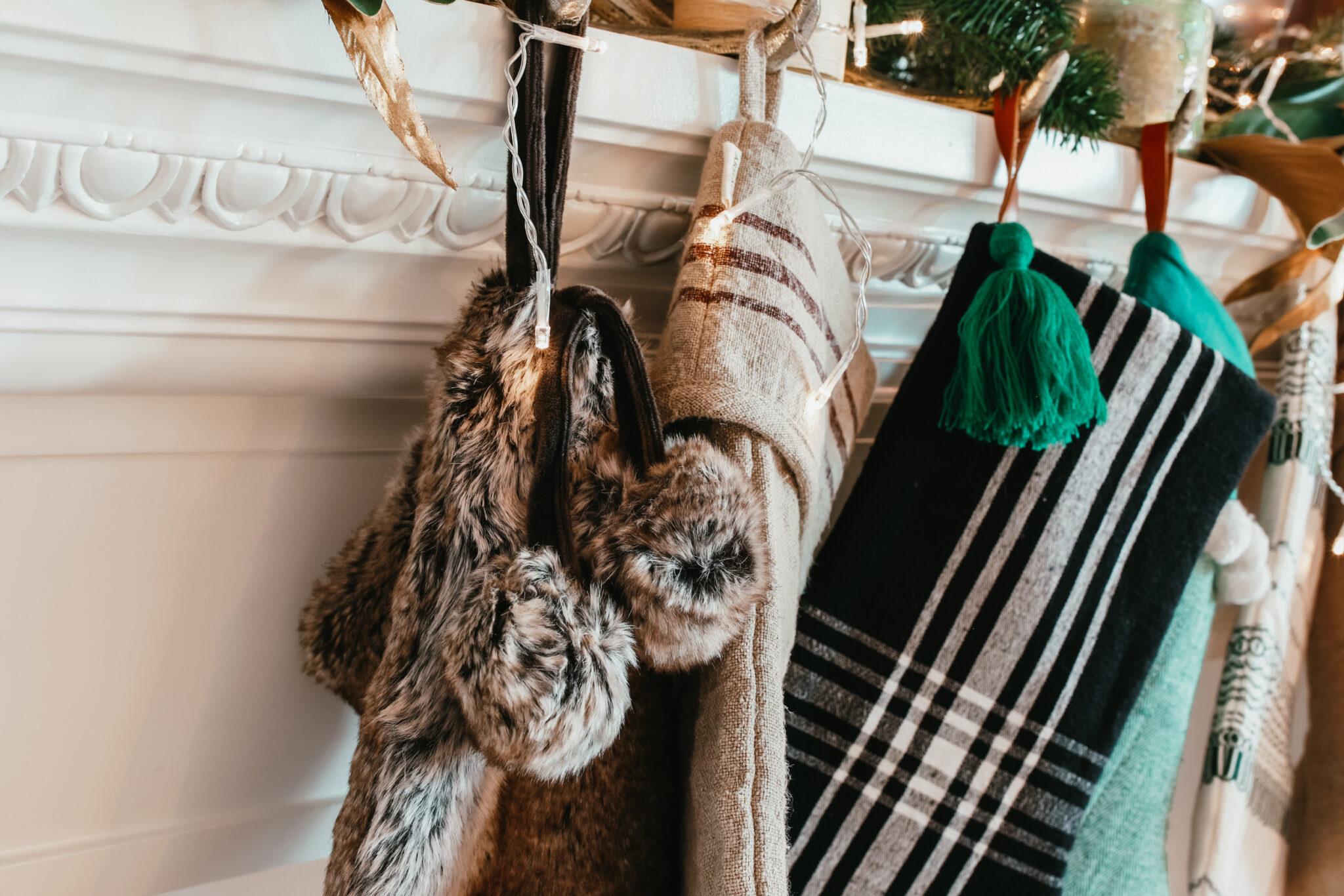 stockings on mantel