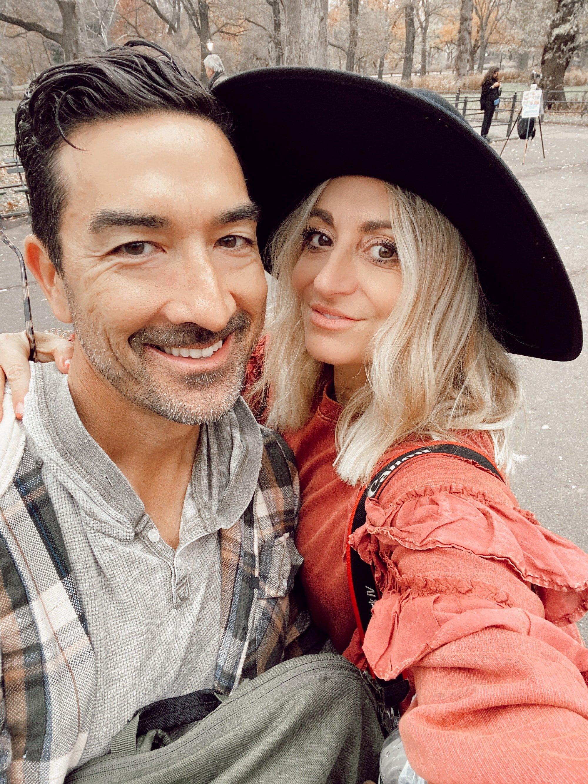 happy couple selfie