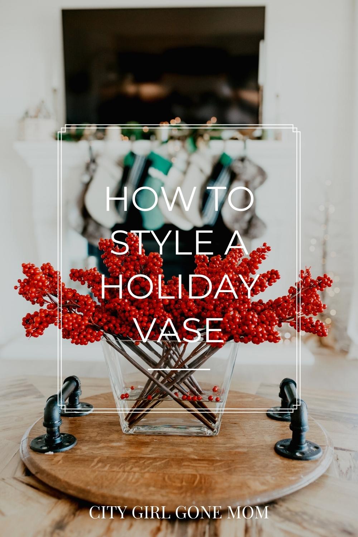 holiday vase