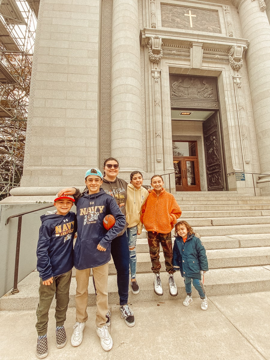 family outside of church