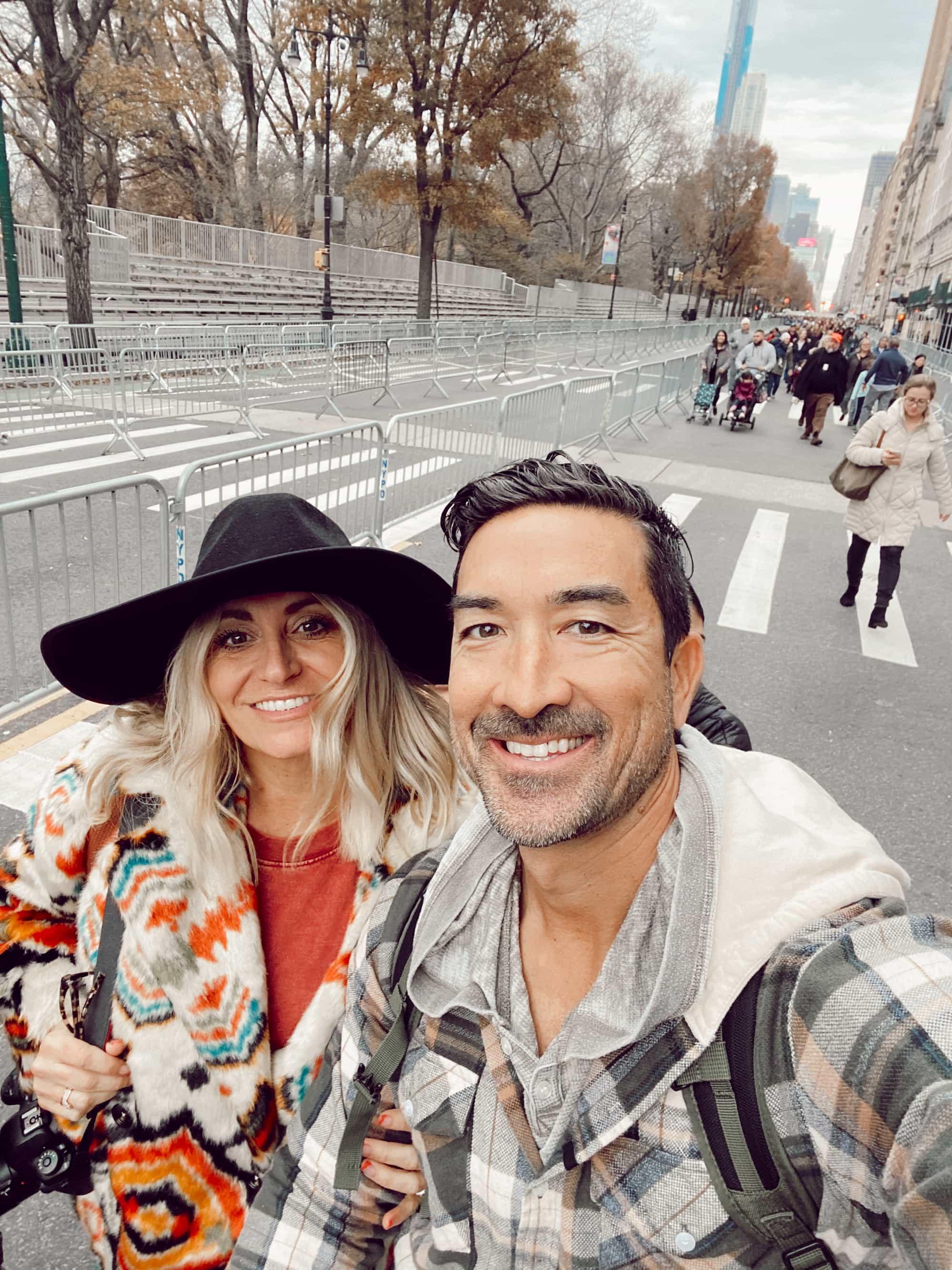 couple selfie in new york