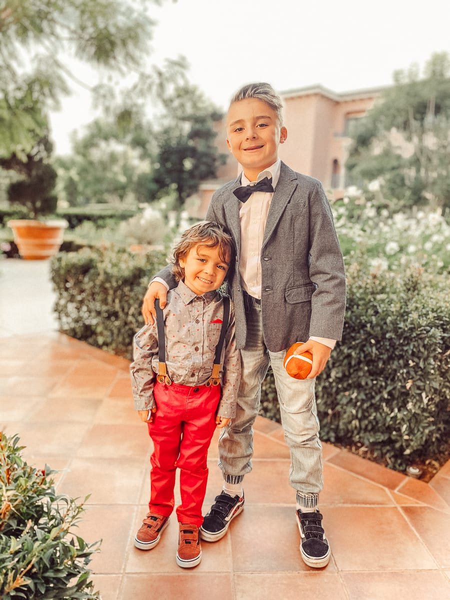 brothers dressed up