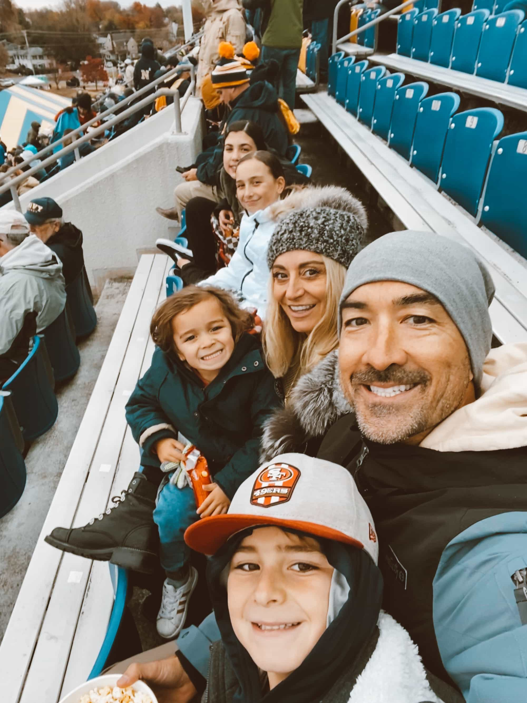 family at game
