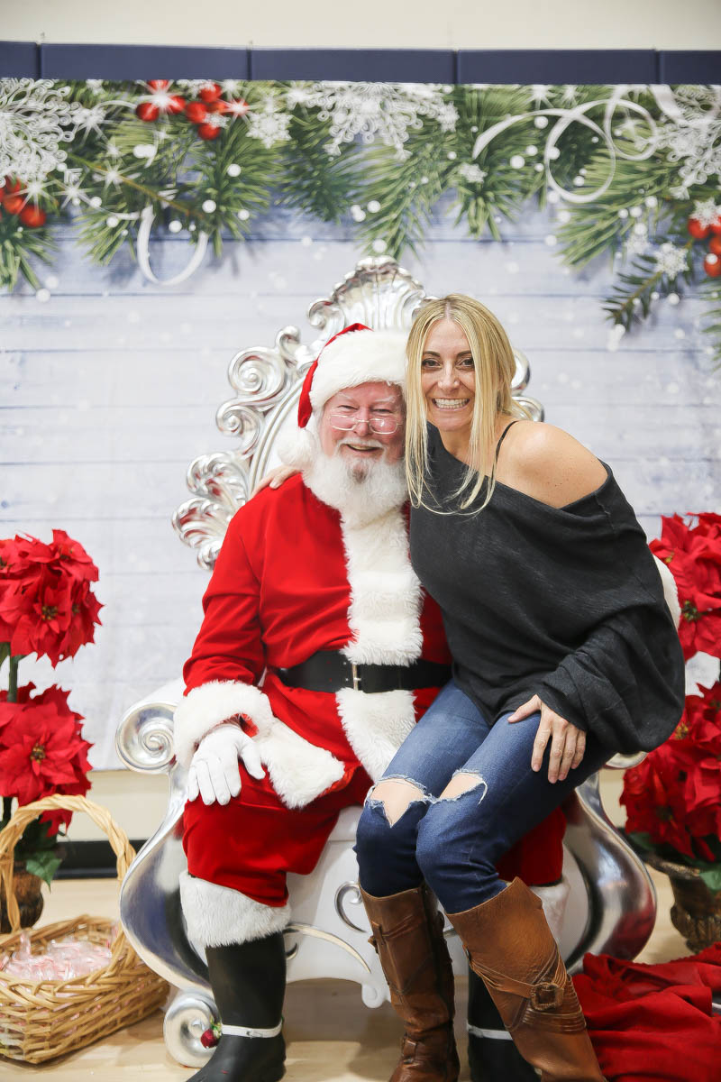 woman with santa claus