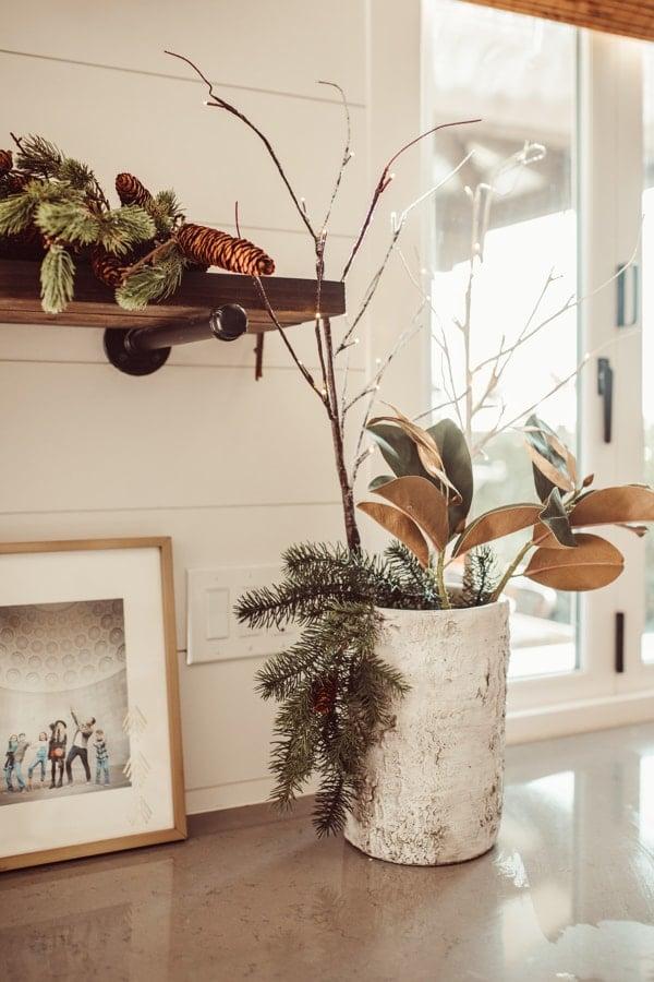 beautifully styles vase in kitchen