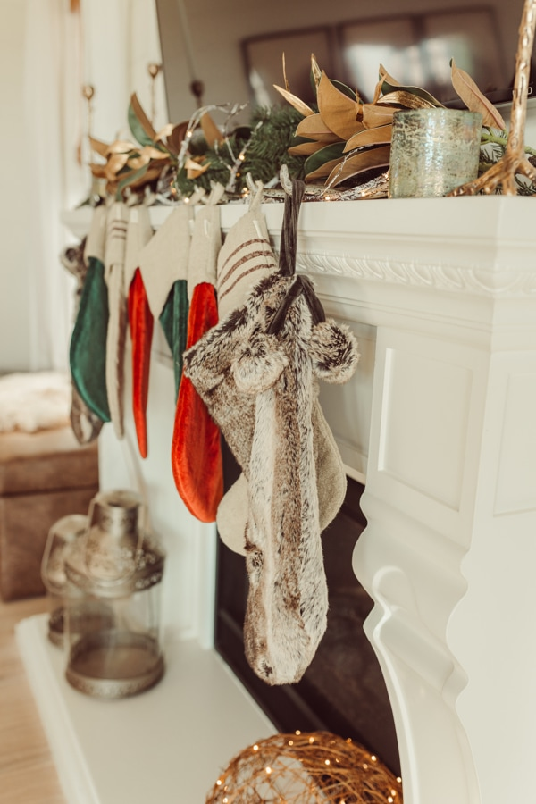 stockings on the fireplace