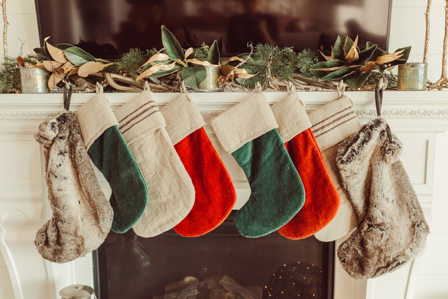 stockings by fireplace