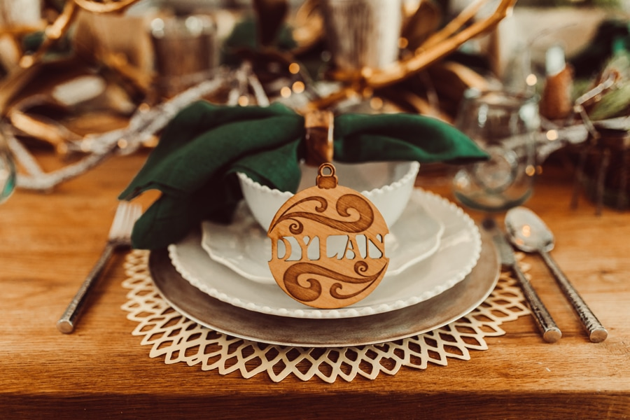 personalized christmas placesetting
