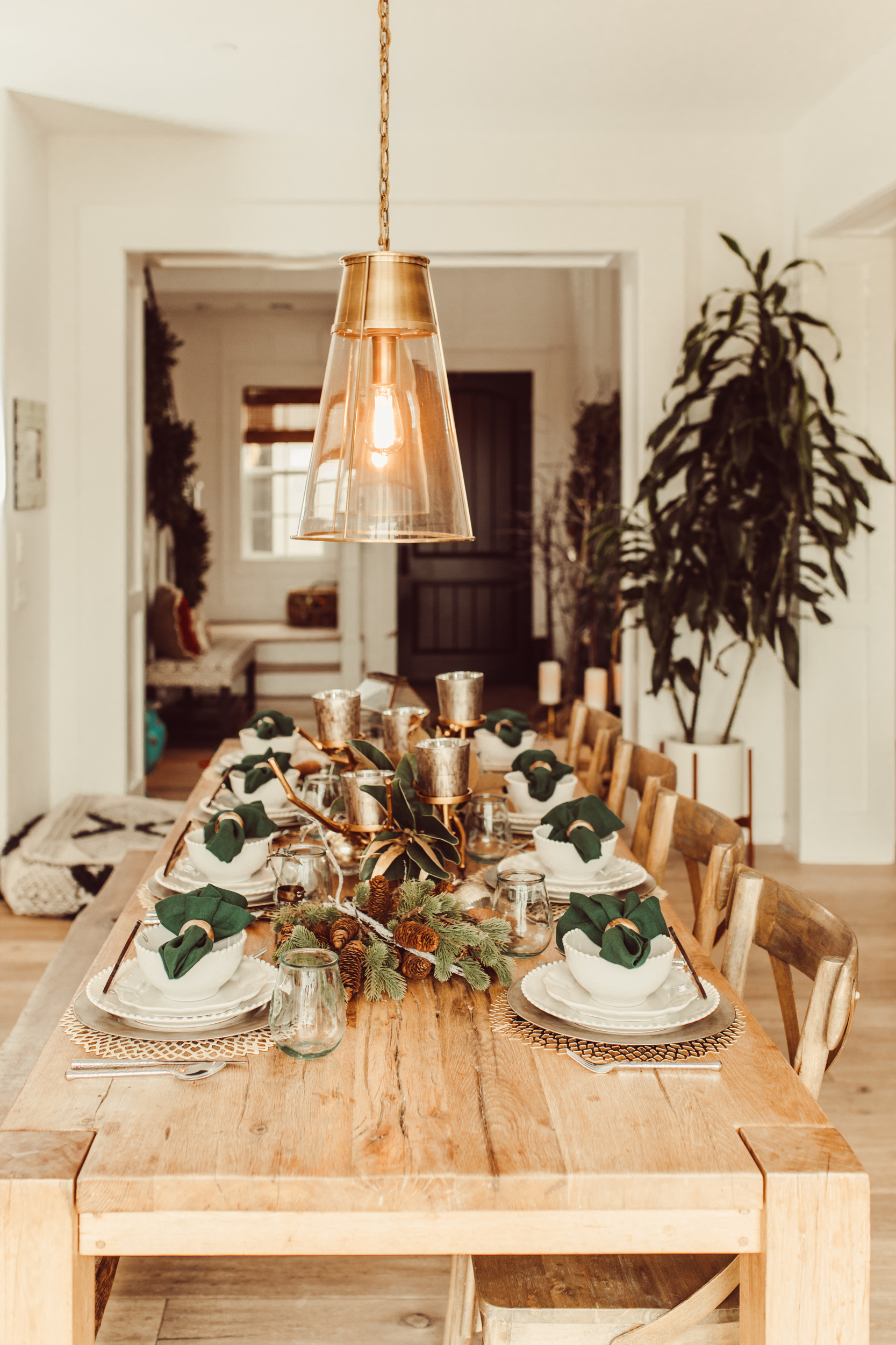 decorated dining table