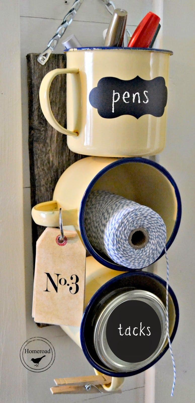 camping mug organizer